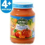 Овко Бебешко пюре /тиква, ябълка и морков + вит.С/  4м+ 190 гр. 5208